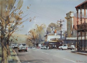 watercolour painting by Ross Paterson titled Junee