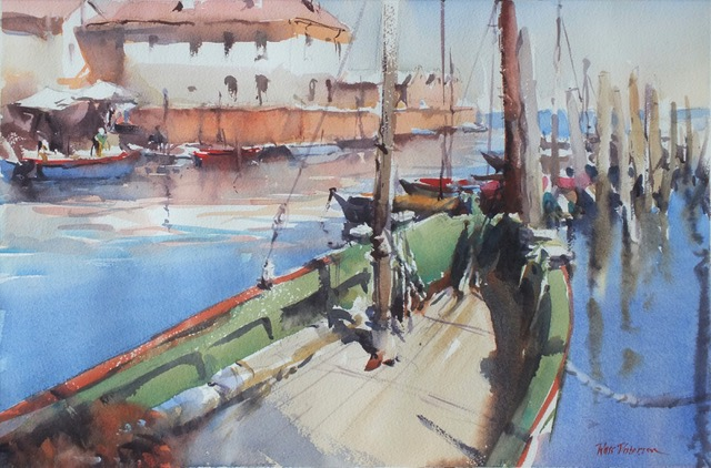 watercolour painting by Ross Paterson titled June Day Chioggia