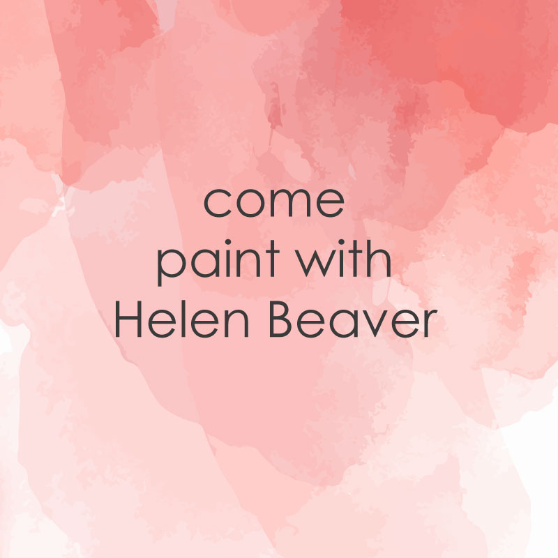 casual painting come paint with Helen Beaver