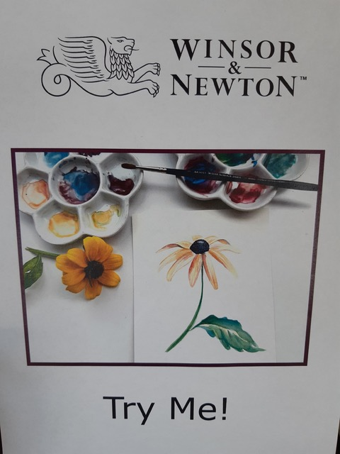 photo of Winsor and newton try me brochure