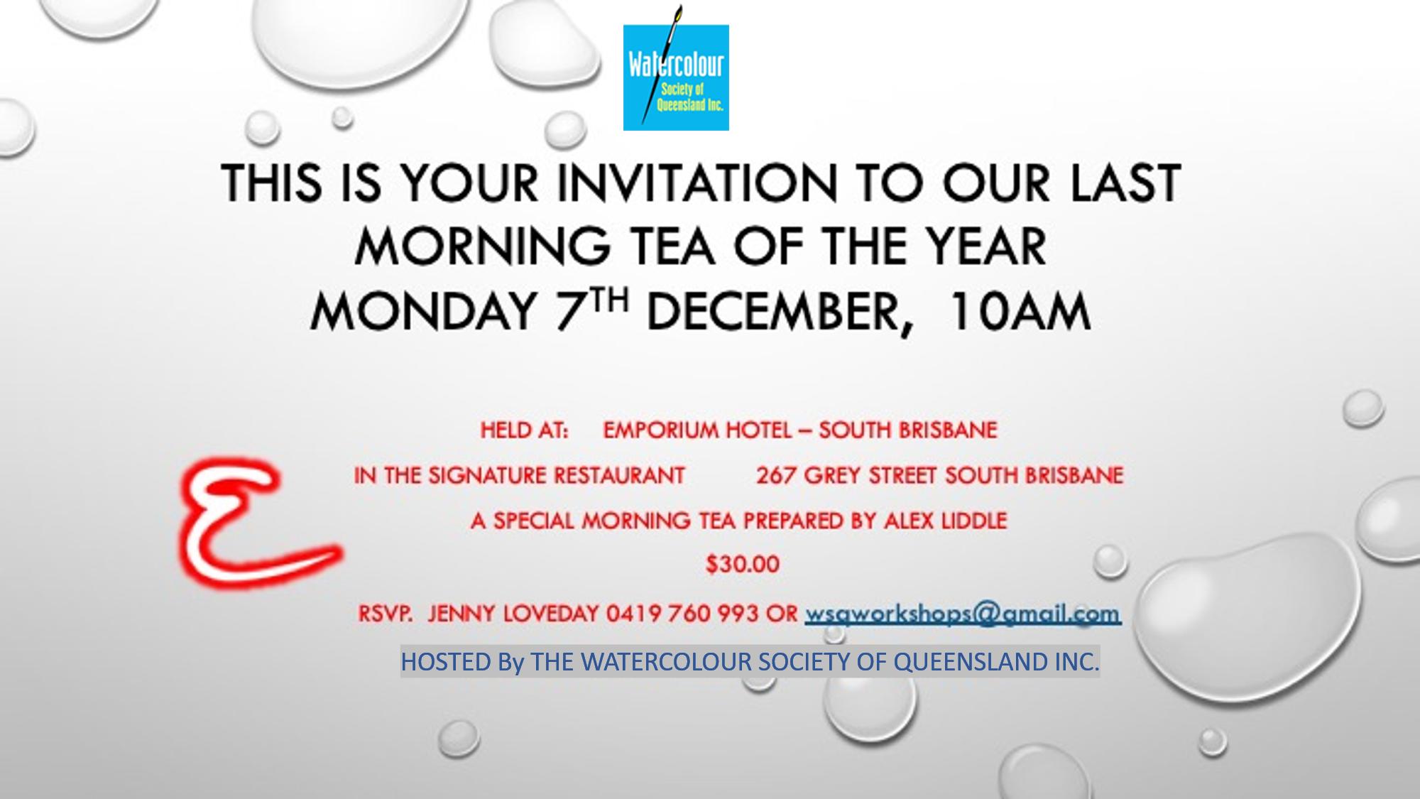 Morning Tea December